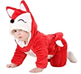 MerryJuly Toddler Unisex-Baby Halloween Costume Animal Romper Onesie Outfits Suit Red Fox 80cm/(6-12 Months)