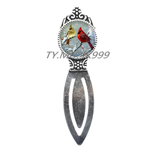 Cardinal Bird Heart Bookmarker Bookmark Bronze Vintge Susan Bourdet Bookmark For Women A Good Gift.Y007 (1)