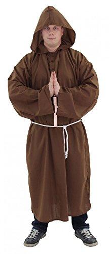 Foxxeo Premium Mönch Kostüm für Herren zu Fasching Karneval Kirchen Motto Party Größe M-L