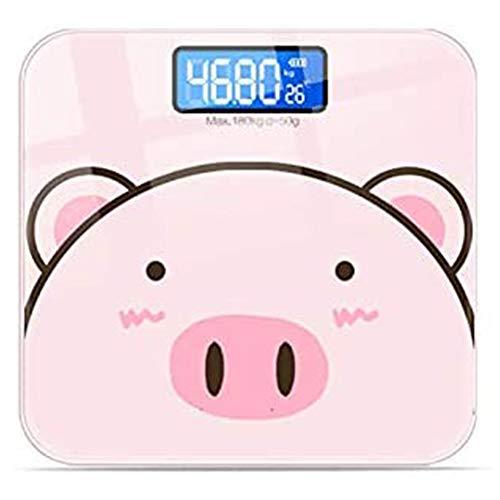 Bodyscale Pink USB Oplaadbare Weegschaal Nauwkeurigheid 0,2 Kg Ontwerp Tondo, De Veiligheidsraad Afmetingen Dorm Thuis Weight Loss Gezond Gewicht