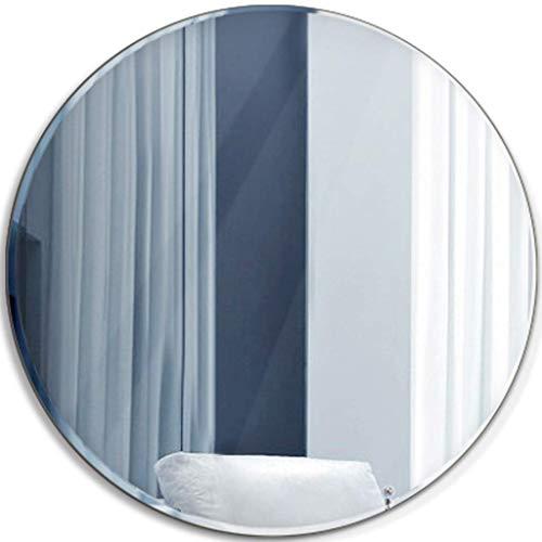 DCLINA Espejo Maquillaje Espejo Redondo para baño Espejos Maquillaje Colgantes Accesorios para baños Vidrio HD Espejo Plata cosmético para Pasillo, Sala Estar, Dormitorio, decoración del hogar