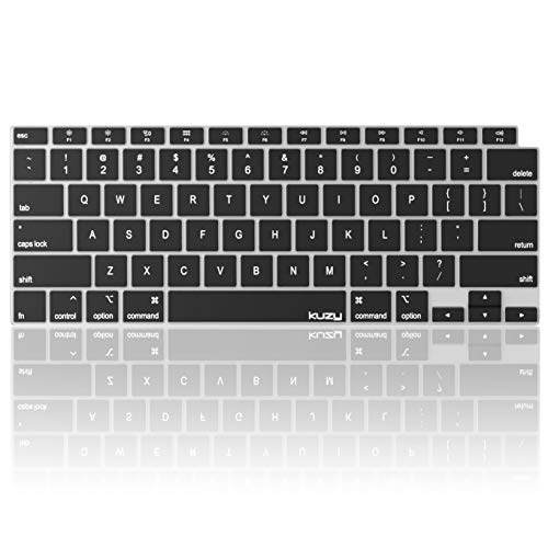 Kuzy Compatible with MacBook Air 13 inch 2020 A2337 M1 A2179 with Retina Display and Touch ID Silicone Key Board Protective Skin Protector, Apple MacBook Air 2020 Keyboard Cover, Black