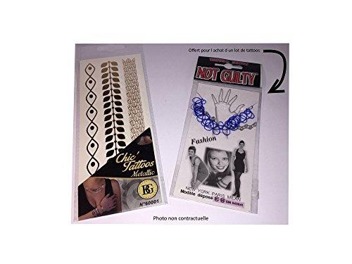 BG Plaque de 3 bracelets chic tattoos metallic éphémères + 1 bracelets plastique offert (1951)