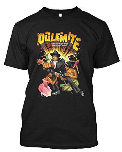 Dolemite 70s Blaxploitation Rudy Ray Moore Grindhouse Trash Sleaze T Shirt Gift Tee for Men Women Black