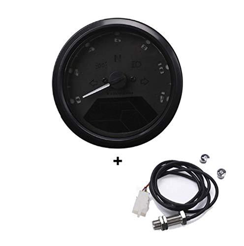 Equipo de repuesto Universal 12000RMP LCD Digital Velocímetro Odómetro Tacómetro 1-4 cilindros Medidor digital de motocicleta Dropshipping (Color: Con sensor 1) (Color : With Sensor 1)