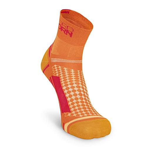 Nordhorn Sportsocken für Herren und Damen, Quarter Sneaker Socken Atmungsaktiv zum Laufen, Joggen, Fitness, Radfahren (Orange, 41-43)