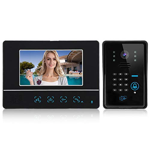 Unidad Interior Ultrafina Alta Seguridad Videoportero Elegante y Lujoso Timbre con Video con Cable para Villas(European regulations)