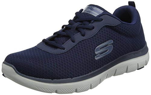 Skechers Flex Advantage 2.0-Dayshow, Zapatillas Hombre, Multicolor (NVY Black Mesh/Trim), 42 EU
