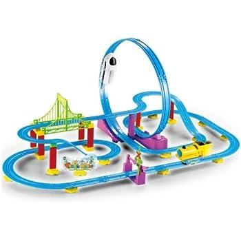 Kiditos (83 Pcs) 3D DIY Paradise Train Track Toy Roller Coaster Set