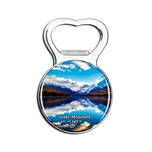 Weekino See McDonald Montana Montana Bier Flaschenöffner Kühlschrank Magnet Metall Souvenir Reise Gift
