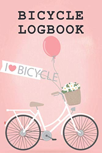 Bicycle Logbook: Bicycle Maintenance Log Book for Road Bikes & Mountain Bikes, Bicycle Log Journal, Repair Record Book with Safety Checks & Trip Cyclocomputer Log for Cyclists Gifts