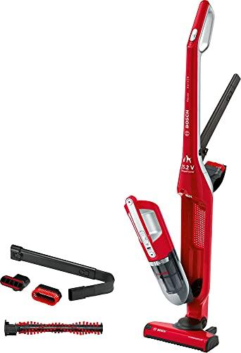 Bosch Flexxo Serie I 4 BBH32551 - Aspiradora sin cable y de mano, de 25.2V, hasta 55 minutos de autonomía, color rojo
