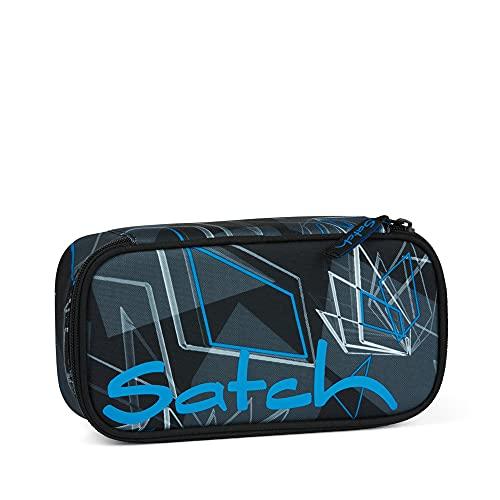 Satch Schlamperbox - Mäppchen groß, Trennfach, Geodreieck - Deep Dimension - Blau