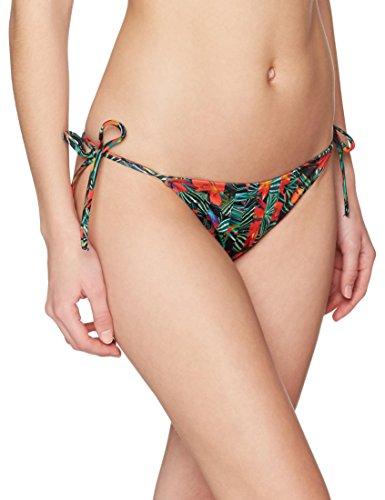 Calvin Klein Damen Cheeky String Side TIE Bikini-Print Bikinihose, Mehrfarbig (Geo Tropic Intense Power 010), 40 (Herstellergröße: L)