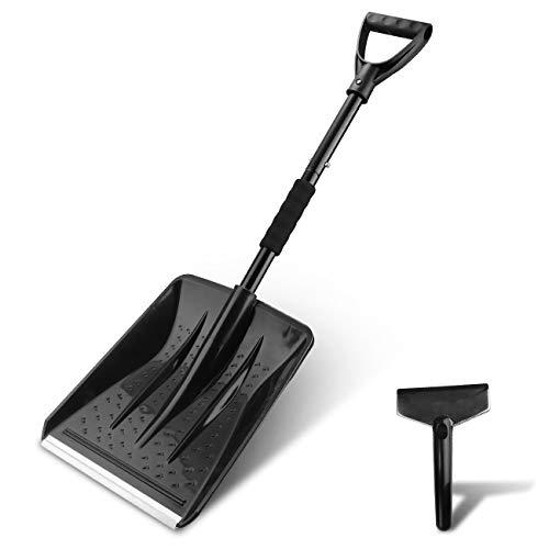 Discover Bargain V VONTOX Snow Shovel, Detachable Plastic Snow Shovel with D-Grip Handle and Aluminu...