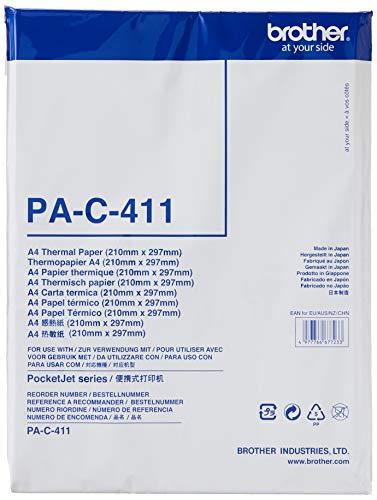 Brother PA-C-411 multifunctioneel papier A4 100 vel voor draagbare printers PJ722, PJ723, PJ762, PJ763, PJ763MFI en PJ773