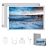 Tablet 10.1 inch New Android 9.0 Quad Core Tablet with 4GB RAM 64GB Storage,1920 x1200 IPS HD Touchscreen Dual Camera-Silver