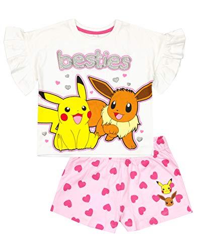 Blanco Rosa Pokemon Pikachu Besties Eevee de Chica Pijama de