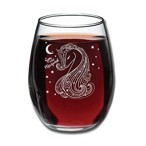 Taza de vino con diseño de unicornio belga personalizable sin tallo, perfecta para esposa, mujer, amigas, compañeras, aniversario de clientes, parejas, Navidad, Acción de Gracias, color blanco 350 ml