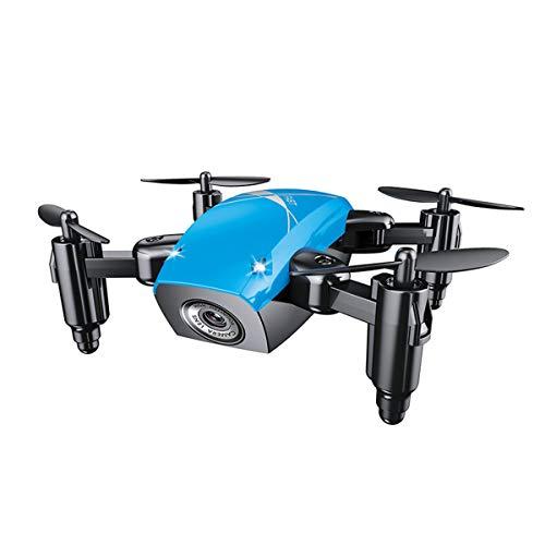 eiseyen Mini Quadcopter dron con cámara para niños con 3d de giratorio, altura conservación del Aire de impresión, headless botón de modo, retorno automático, conexión WiFi, azul, nein Kamera
