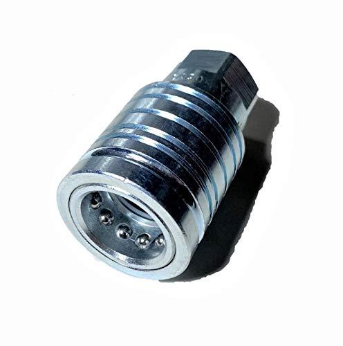 Ventil oder Hydraulikstecker mit 1/2 Zoll Innengewinde und gleichem BSP Gewinde.