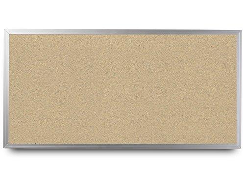 EverWhite High Density Cork Aluminum Framed Bulletin Board, 4' Height x 10' Length, Wheat (T7100-4X10-Wheat)