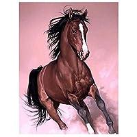 DIY数字油絵 塗り絵キット パズル油絵 走っている動物の馬 数字キットによる絵画 子ども塗り絵 手塗り デジタル油絵 ホームデコレーション 40x50cm(額縁なし)