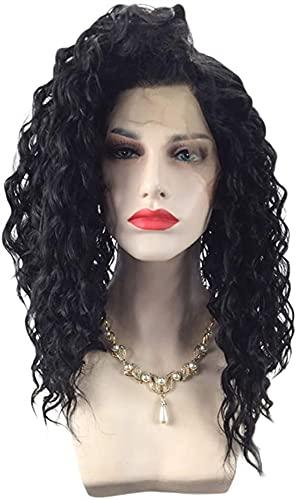 Cheveux courtes perruques avant cueillies 13 * 4 avec Perruque Bob Curly pour femmes noires Black Naturel Cheveux Noir 130% Densité 20inches chenghuax
