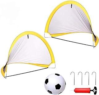 yoptote Mini Portería De Fútbol Plegable Set De Fútbol para Niños117cm * 85cm Deportes Interiores Y Exteriores Deportes D...
