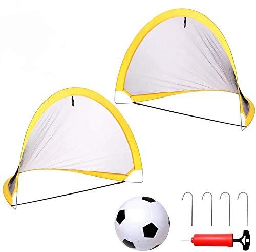 yoptote Fussballtor Kinder 3 4 5 Jahre Fußballtor Kinder Fussball Trainingszubehör Sportgeräte Kinder 2 Pack Fussballtore für Kinder Jungen 3 4 5 Jahre