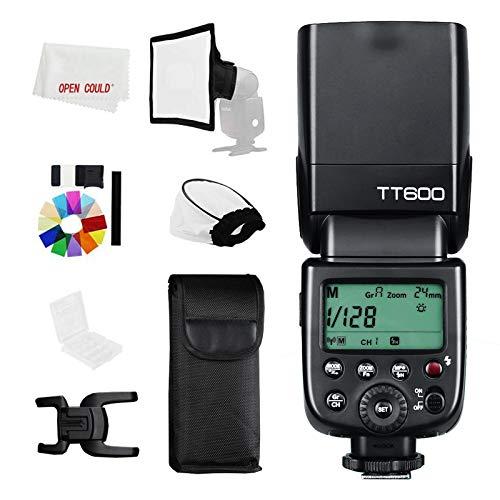 Godox TT600 2,4 G senza fili GN60 Master Slave, telecomando per fotocamera off-Board HSS Speedlite, flash universale con un contatto per Canon Nikon Sony Pentax Olympus Fuji Lumix