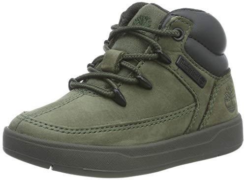 Timberland Unisex-Kinder Davis Square Eurosprint Sneaker, Grün (Dark Green Nubuck), 33 EU