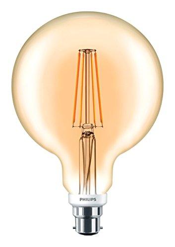 Philips classique LED à intensité variable Doré G120vintage Filament Boule de lumière, clair, 7W, B22, Verre, claire, B22, 7 wattsW 240 voltsV