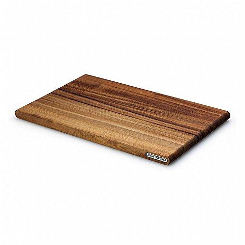 Continenta Schneidebrett, Tranchierbrett aus Akazie Kernholz, herausragende Qualität, edle Musterung, robust und langlebig, Größe: 36 x 23 x 1,8 cm