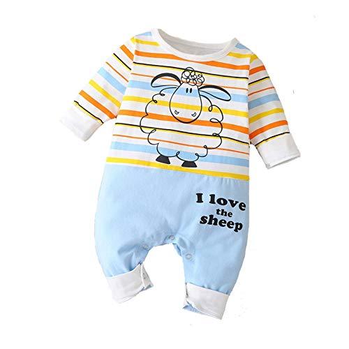 Katsaz Body Bebe Niño Recien Nacido Manga Larga Lindo Dibujos Oveja Rayas Mameluco Niños Niñas Ropa Bebe Niña Mono Bebés Bautizo Bodies Infantil Fiesta Pijamas