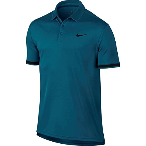 Nike 830849 Polo Homme Green Abyss/Black/BL FR : M (Taille Fabricant : M)