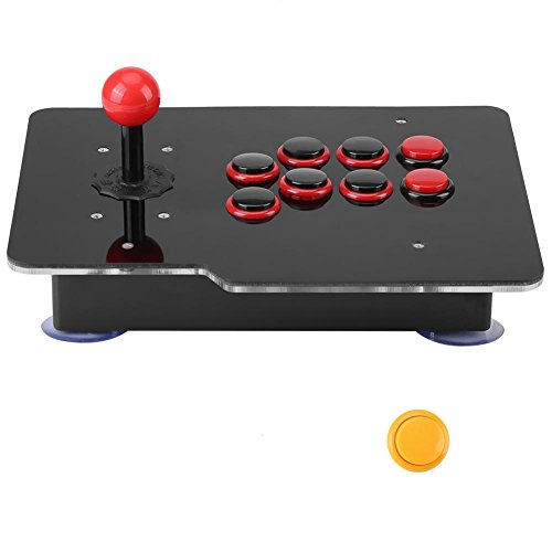 Desconocido USB Game Fight Stick, Negro USB PC Joystick Arcade Game Stick Botones Fighting Joystick Controller para Sistema Win 7,8,10
