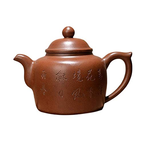 Kungfu Porcelain Lid Teas Teacups Sets Teapot Ponceau LEBAO (Color : Brown)