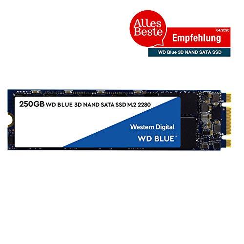 Western Digital WDS250G2B0B WD Blue 250GB 3D NAND Internal SSD M.2 SATA