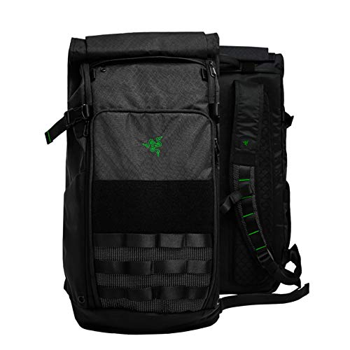 Razer Tactical v2 17' Laptop Backpack: Tear & Water Resistant Exterior - Roll Top for Increased Capacity - Scratch-Proof Interior - Fits 15 inch Laptops – Black