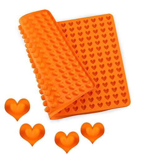 Esportic Backmatte Silikon, 1.5cm Silikon Backform Mini Herz Silikonmatte, 255er Antihaftend klein SilikonBackformmen für Hundekekse & Hundeleckerlies, Backpapier, Backunterlage, Pralinenform
