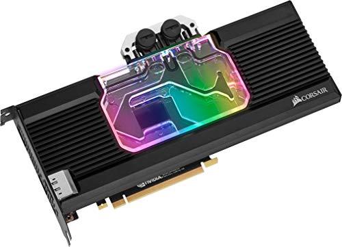 Corsair Hydro X Series XG7 RGB 20-SERIES GPU-Wasserkühler (für NVIDIA GeForce 2080 Super, Präzise Konstruktion, Aluminium Backplate, Durchflussindikator, Anpassbar RGB-Beleucht) schwarz