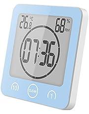 YanFeng Reloj de baño, LCD Reloj Digital de Ducha Estación meteorológica inalámbrica