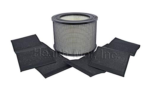 FilterQueen Defender Air Purifier Replacement Filter Bundle, HEPA Filter and Charcoal Wraps, Annual Bundle