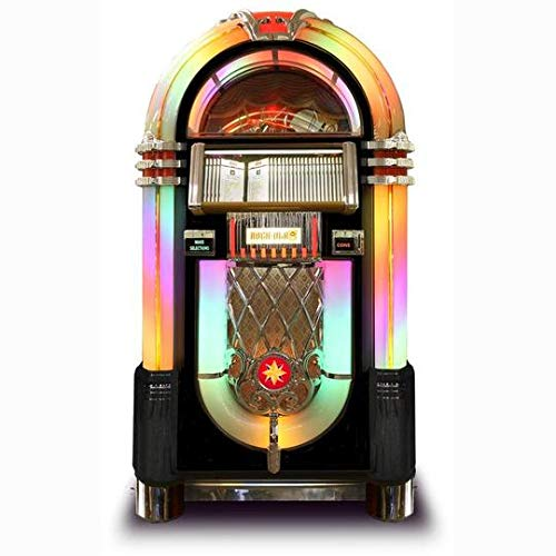 Discover Bargain Rock-Ola Bubbler CD Jukebox in Black with Bluetooth - Holds 100 CDs