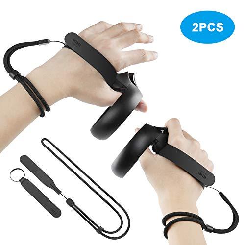 KIWI Design Knöchelriemen mit Verstellbarer Handschlaufe für Oculus Quest/Oculus Rift S Touch Controller Zubehör (1 Paar)