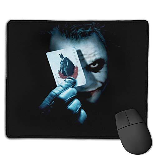 Bequemes Mauspad aus Polyestergewebe, Schreibtisch-Mauspad, präzise genähte Kanten, rutschfeste Gummiunterseite, die Joker-Karte