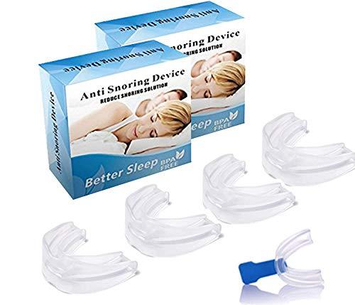 歯ぎしり対策 いびき防止グッズ ランキング 防止睡眠時の騒音 マウスピース喉舌磨牙症 シリコン硅胶(4個セット)