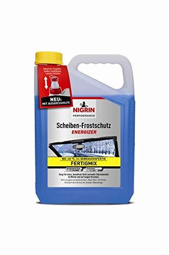Nigrin 20562 Scheiben-Frostschutz Energizer gebrauchsfertig bis -22° 3 Liter, schlierenfreier und effektiver Scheibenreiniger Winter