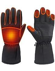 Bsopem Elektrische verwarmde handschoenen, waterdichte oplaadbare warme thermische handschoenen met touchscreen functie, winter verwarming handwarmer voor wandelen jacht vissen skiën bergbeklimmen